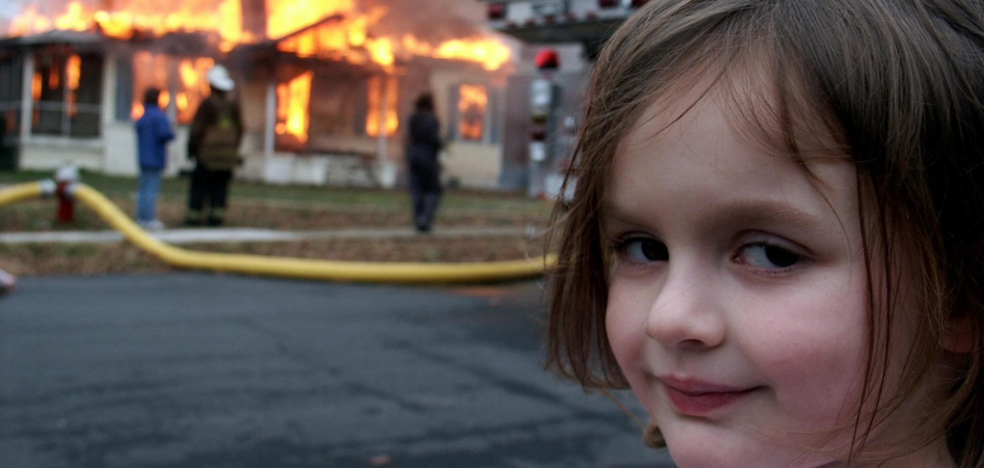 Героїня мему «Дівчинка-катастрофа»