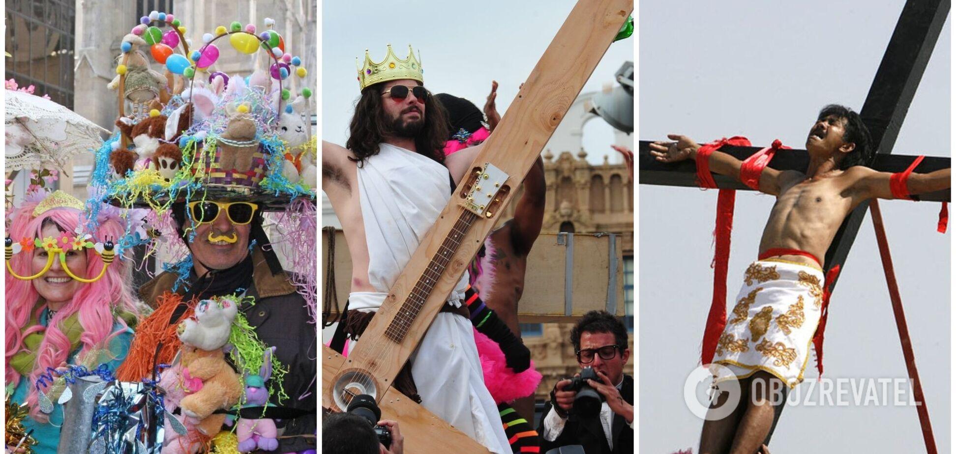 Обливания водой и распятие людей на кресте: как отмечают Пасху в разных уголках мира. Фото