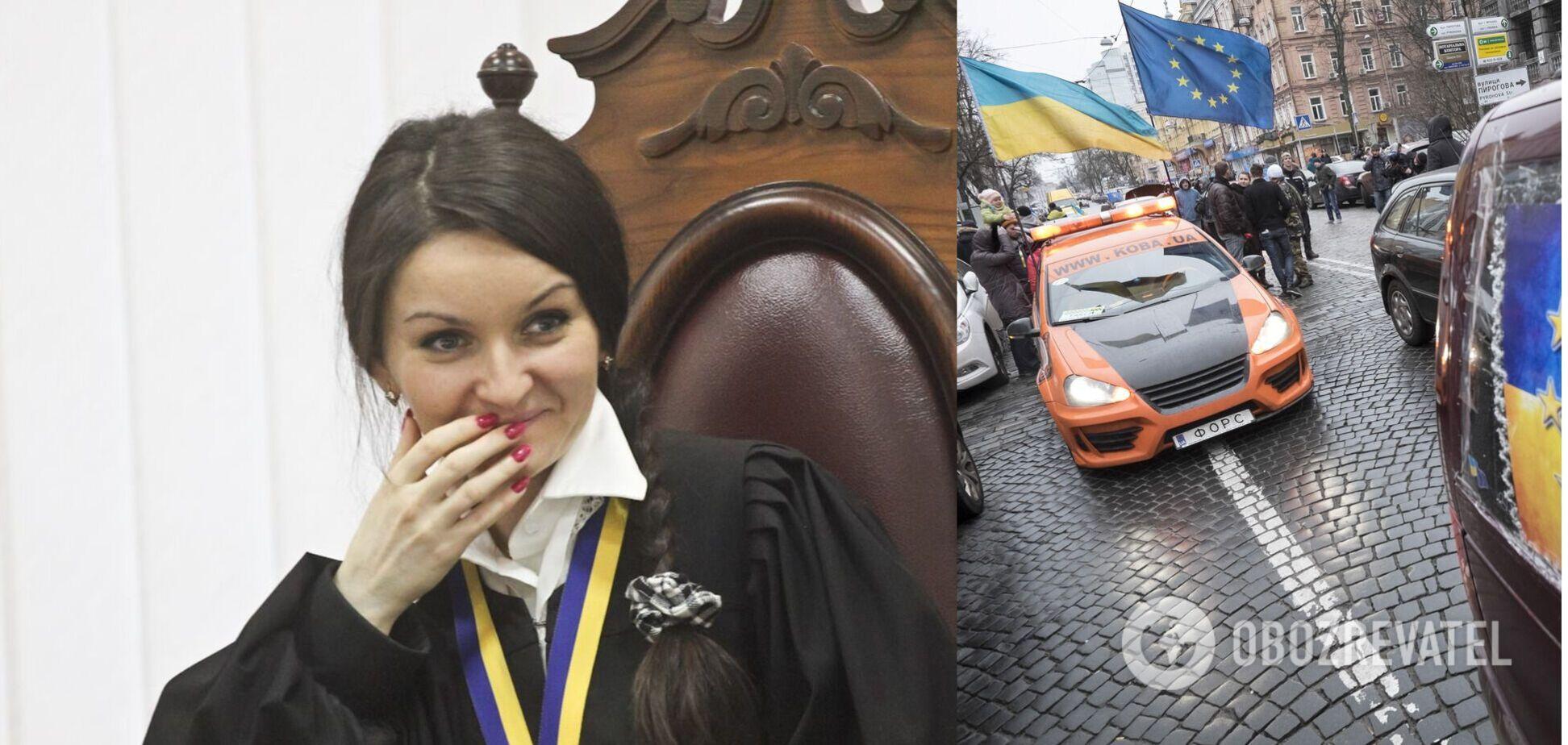 На роботу повернулася суддя, яка відбирала права у автомайданівців