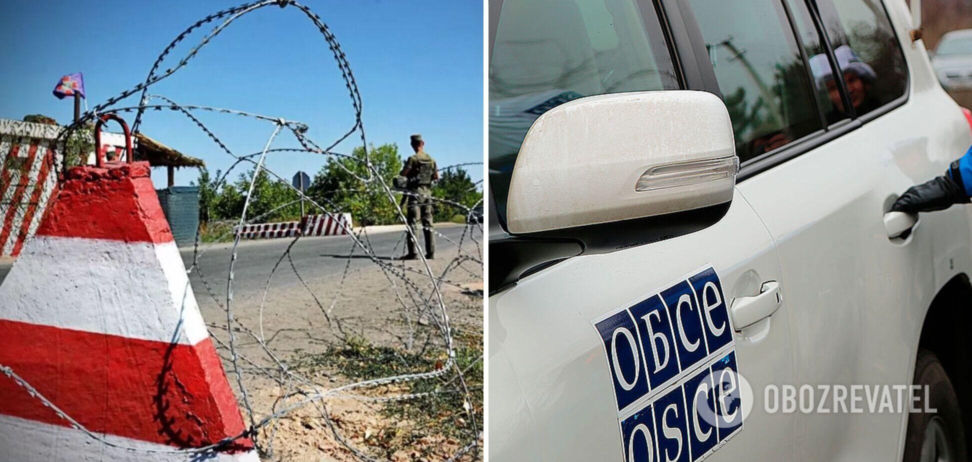 На Донбассе наемники РФ блокировали работу миссии ОБСЕ из-за учений
