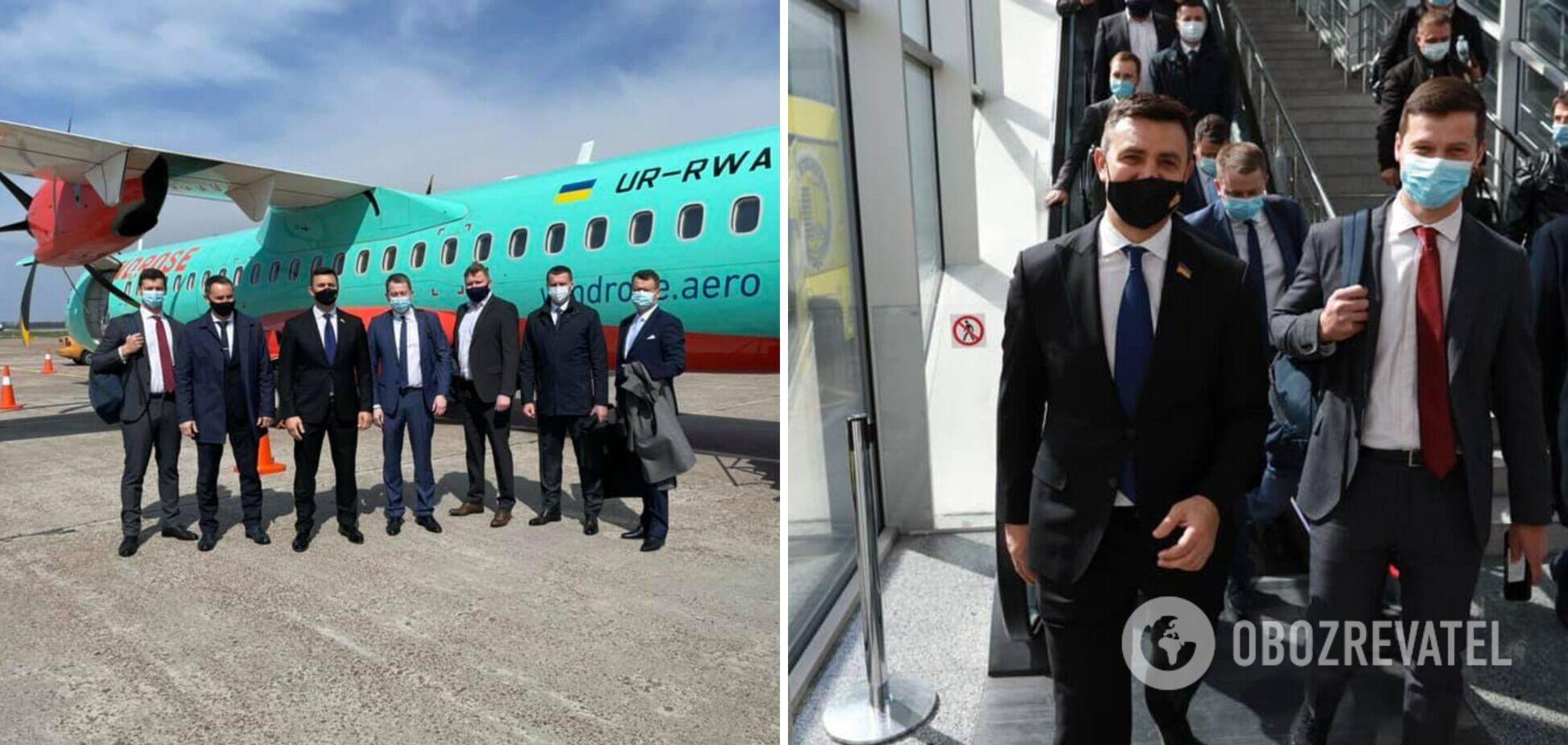 Тищенко вылетел в Ужгород на первом за 15 лет самолете из Киева, но пришлось добираться поездом. Фото и видео