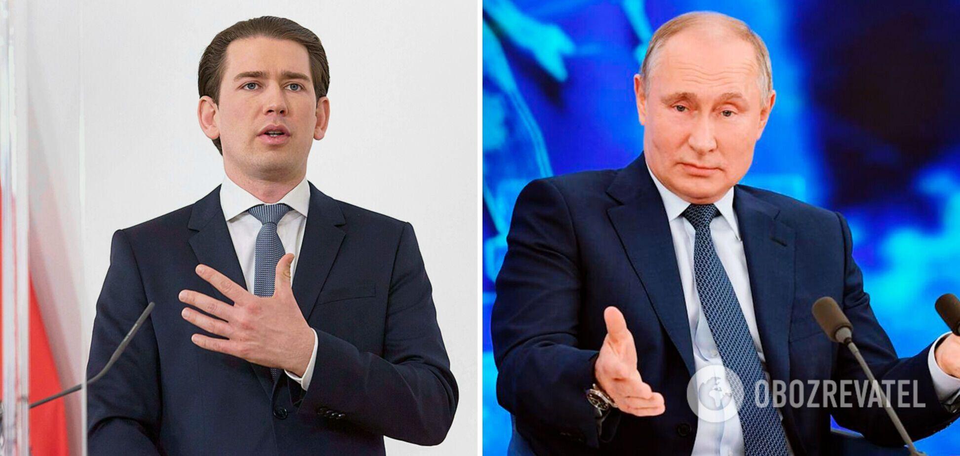 Себастьян Курц і Володимир Путін