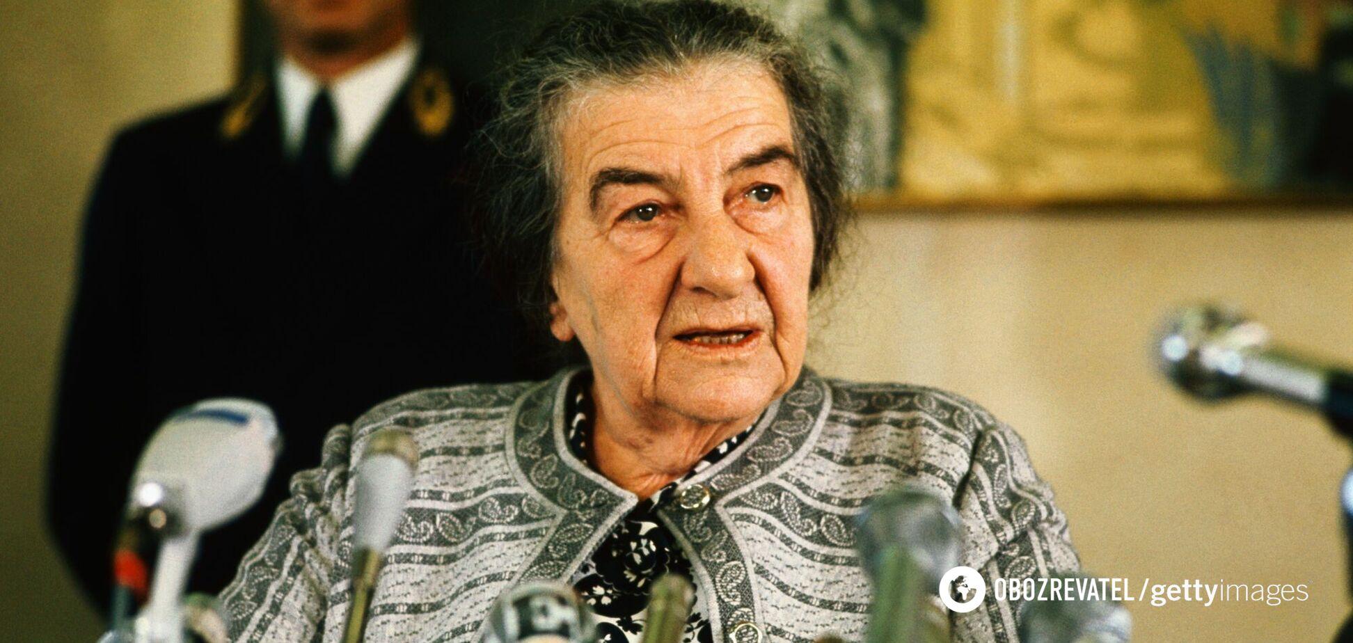 Голда Меїр під час пресконференції в Європейському парламенті в Страсбурзі, 1973 рік