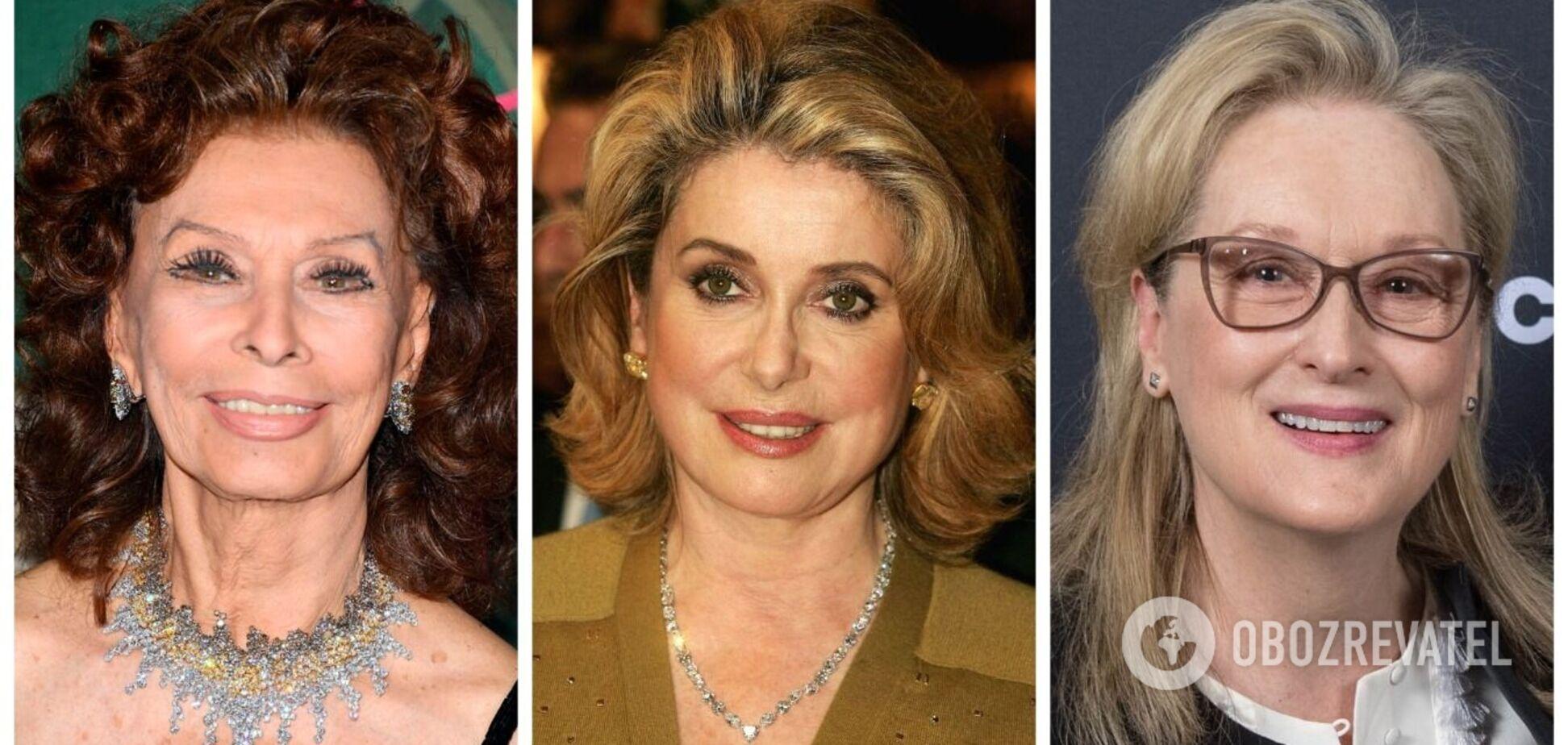 Софі Лорен, Катрін Деньов та інші акторки в молодості і зараз. Фотопорівняння