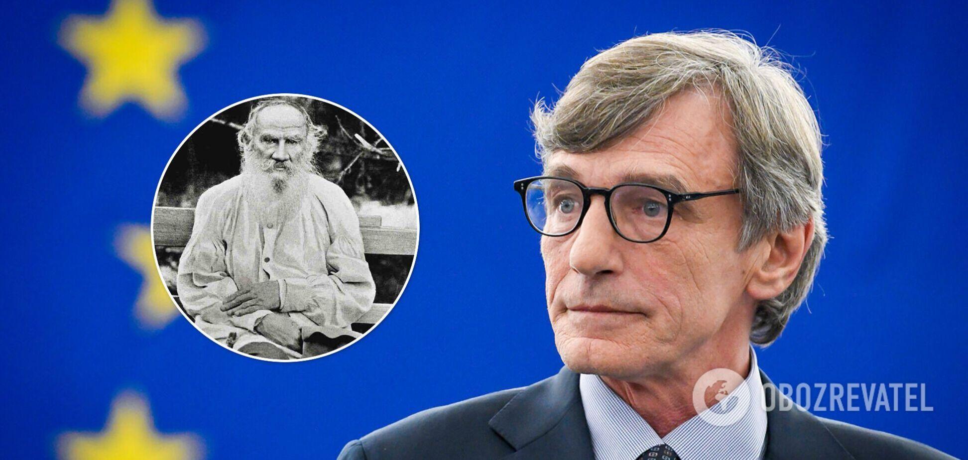 Глава Європарламенту заявив, що санкції РФ не змусять їх замовкнути, і процитував Льва Толстого