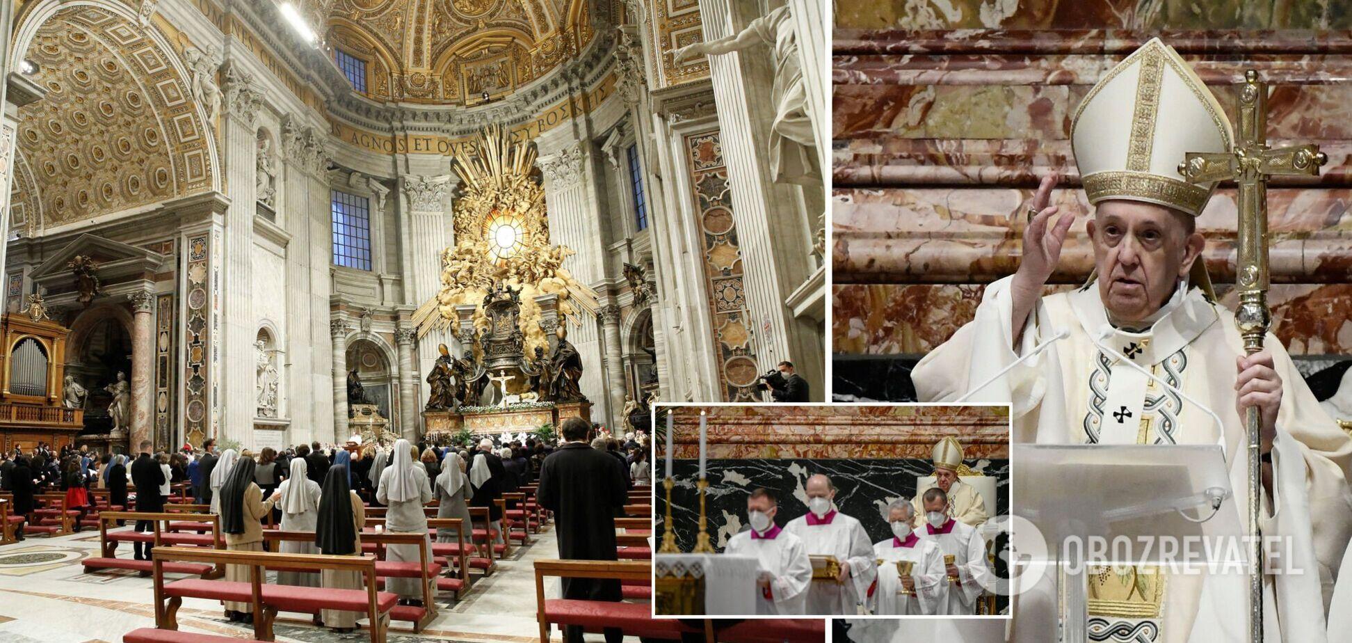 Папа Франциск згадав Україну у великодньому посланні