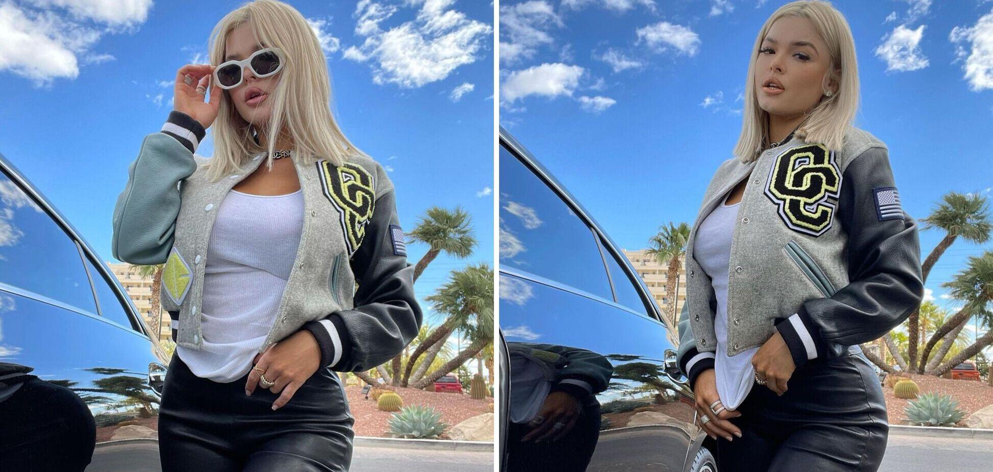 Стриптизерша, с которой живет Мейвезер, выложила фото в 'разрезанном' бикини
