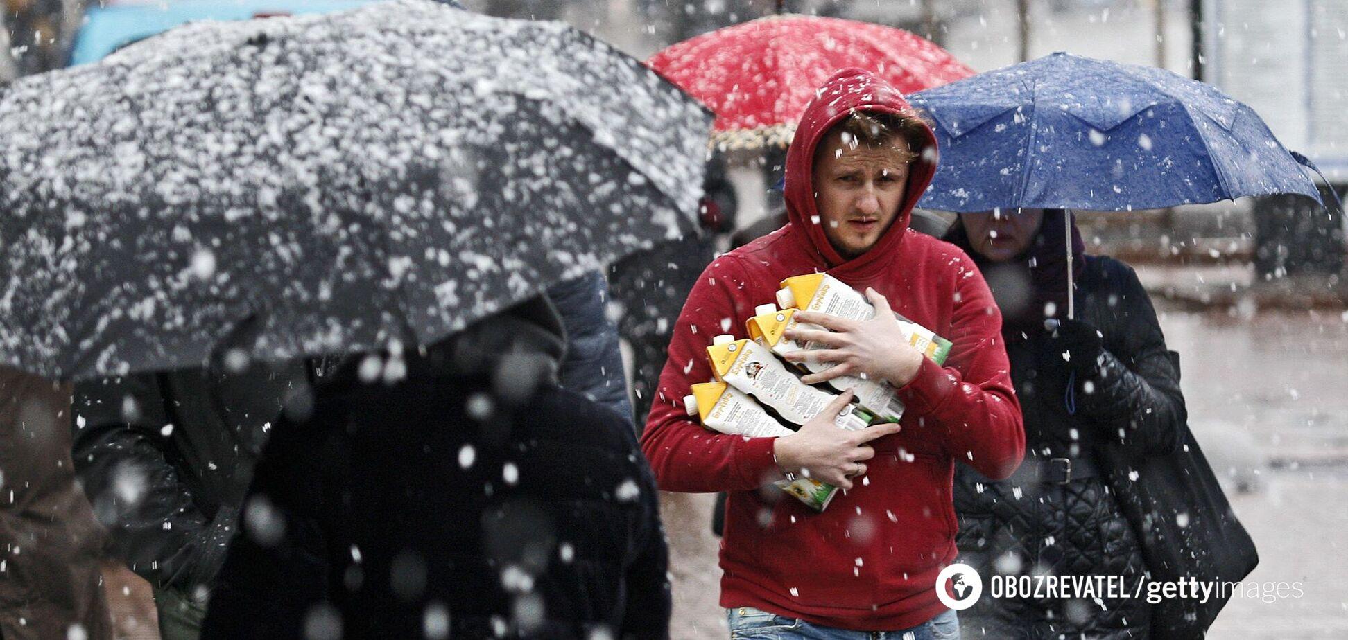 В Киев придут снегопады и холода