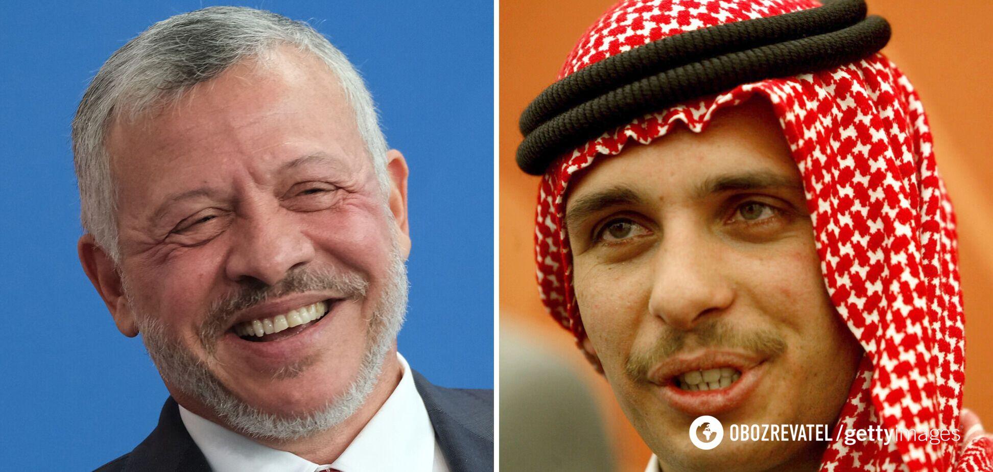 Король Иордании Абдалла II / бывший наследный принц Иордании Хамза бен Хусейн