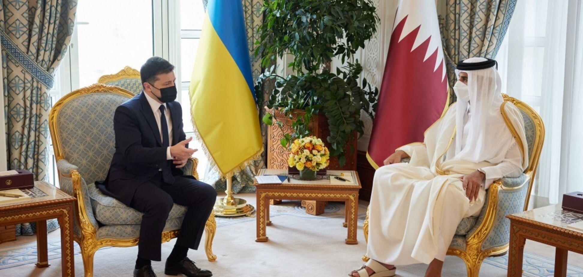 Зеленський запропонував Катару інвестувати у 'Велике будівництво' в Україні