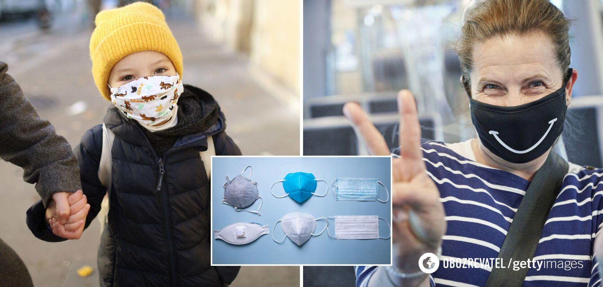 Вчені визначили, які маски найкраще захищають від коронавірусу