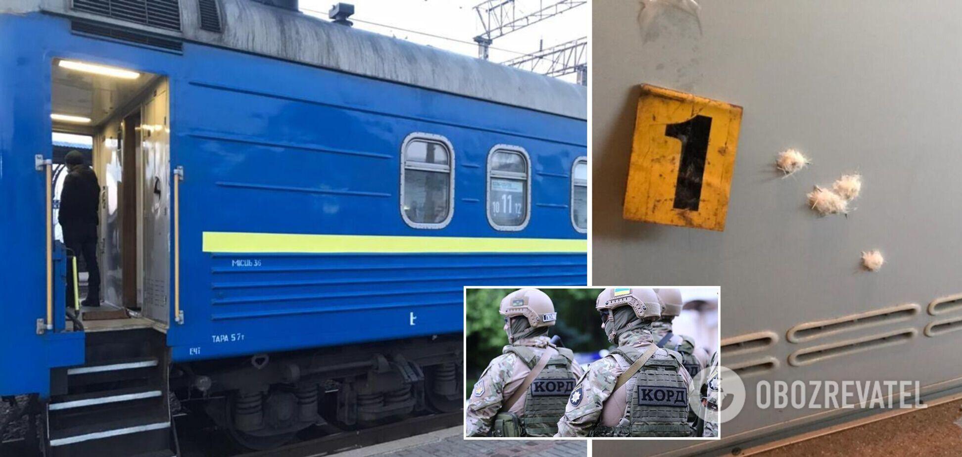 В полиции показали кадры с поезда на Харьковщине, где офицеры устроили стрельбу. Фото