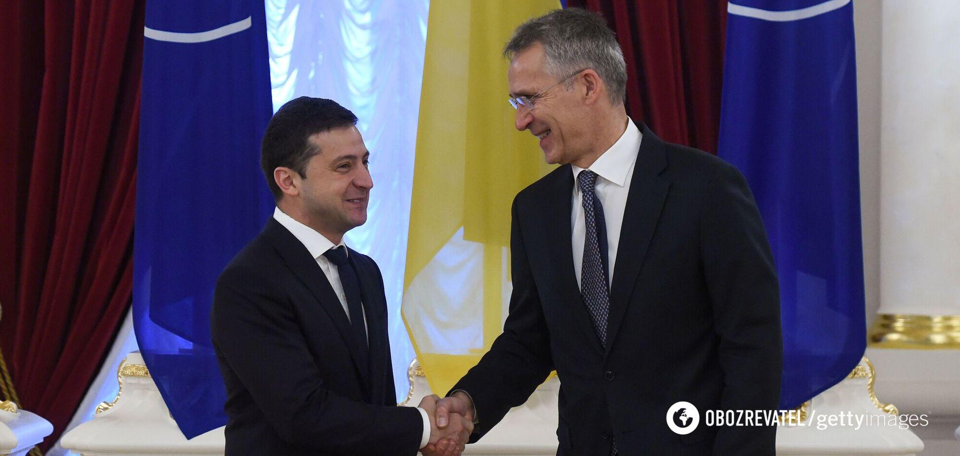 Зеленський сказав Столтенбергу, що єдиний шлях закінчити війну на Донбасі – вступити в НАТО