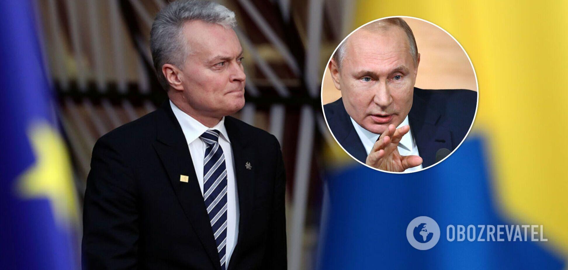 Президент Литви пояснив свою фразу про 'вбивцю' Путіна: вся система в РФ така. Відео