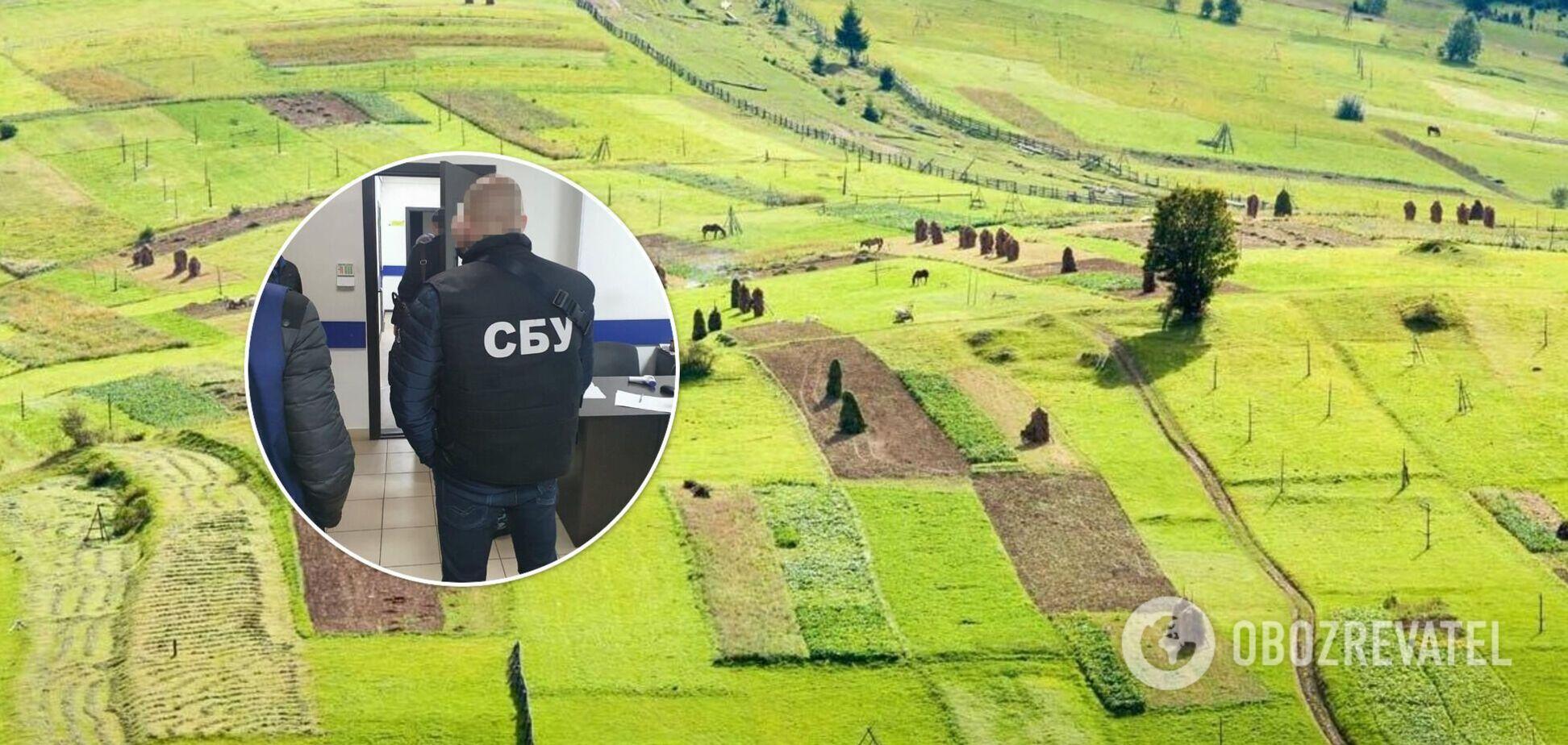 Агрохолдинг із чиновниками Держгеокадастру привласнили землі на 80 млн грн – СБУ