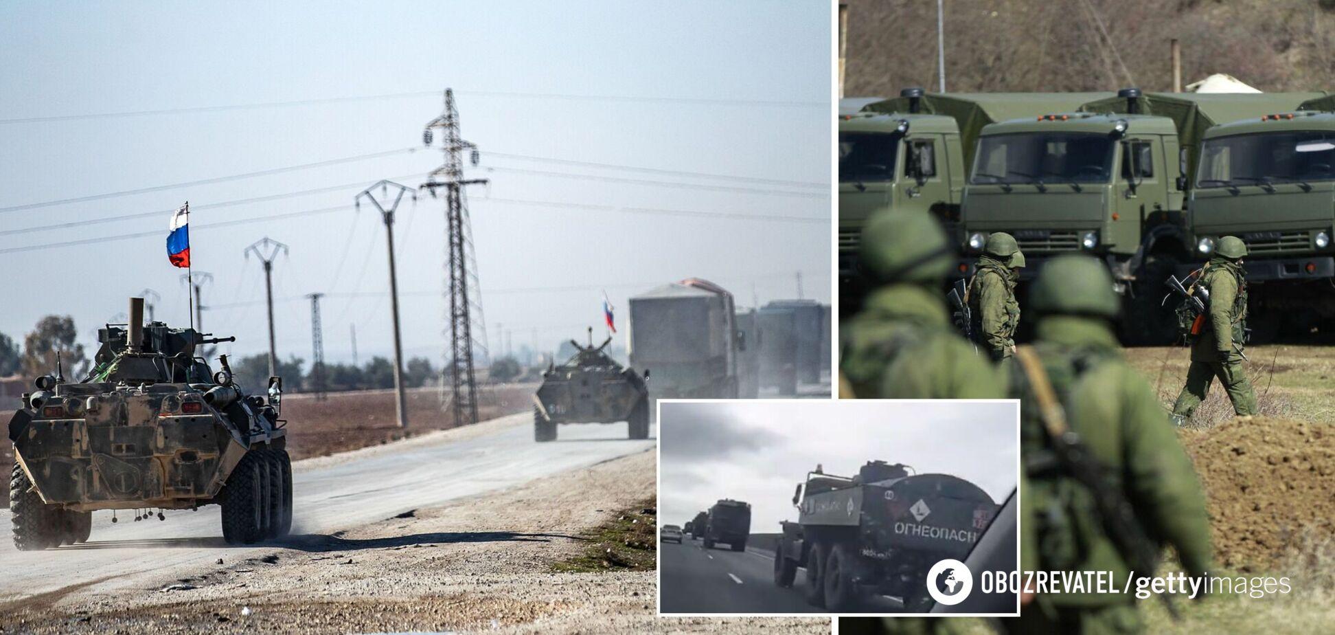 У мережі показали рух військової техніки Росії в бік України. Відео