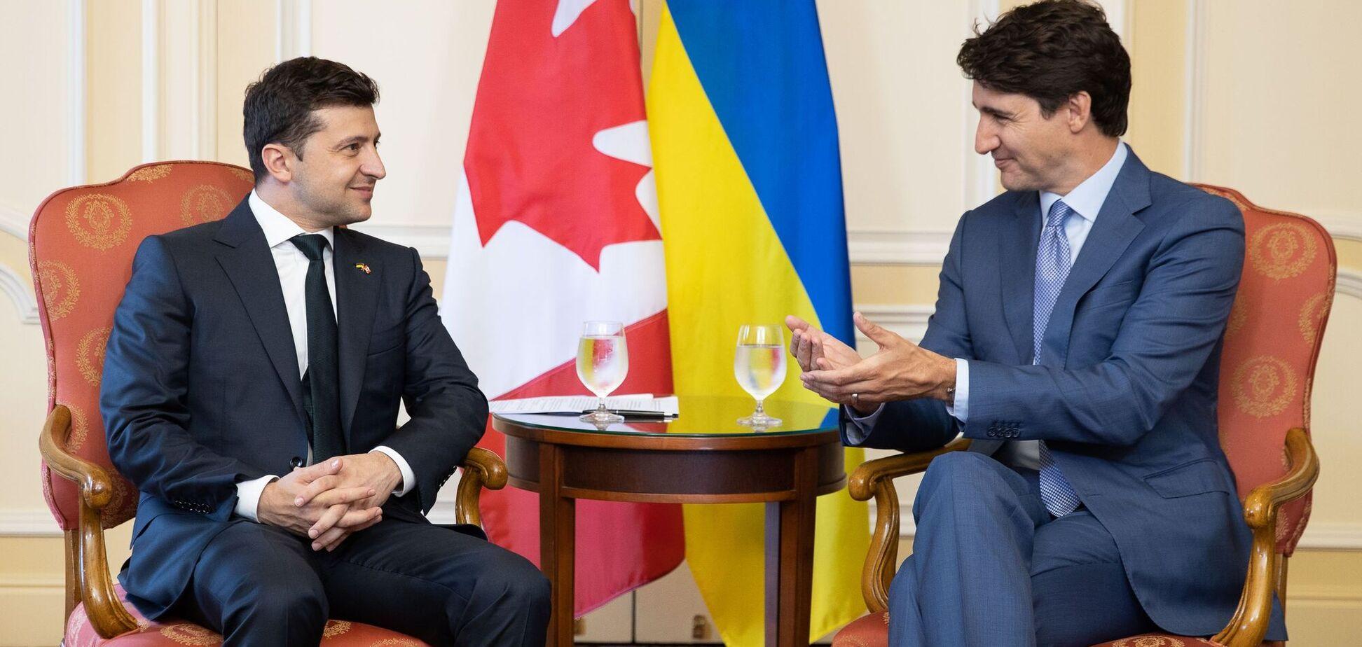 Президент України Володимир Зеленський і прем'єр-міністр Канади Джастін Трюдо