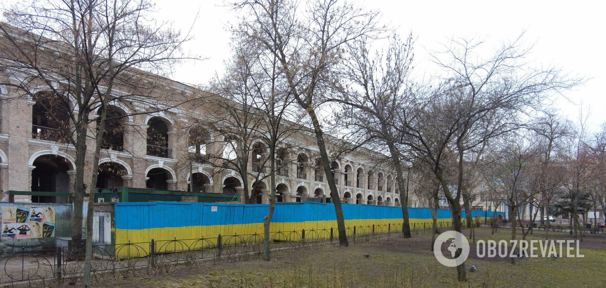 Полуразрушенный Гостиный двор: как сегодня выглядит ''сердце Подола''