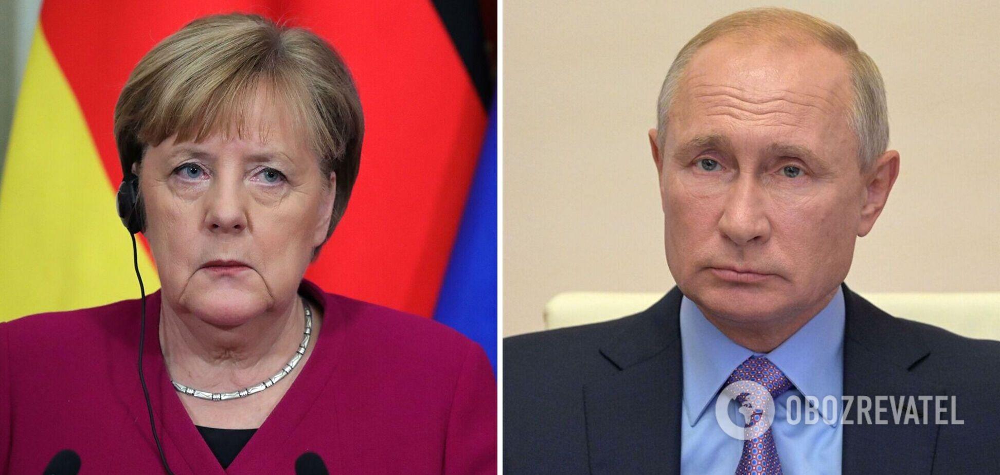 Меркель зажадала від Путіна припинити нарощувати озброєння на кордоні з Україною