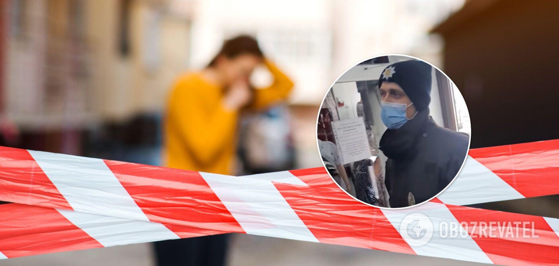 У 'червоних' Чернівцях власниця магазину вигнала копів, які перевіряли дотримання карантину. Відео