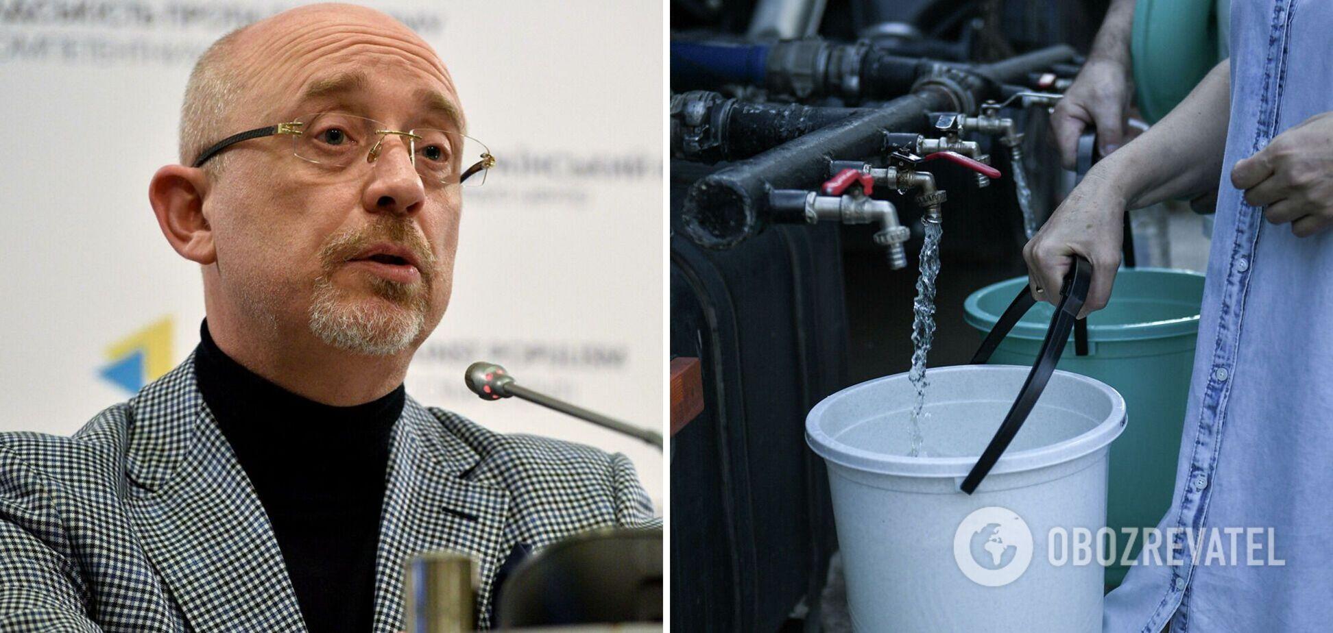 Резников назвал условие поставки воды в Крым 'цистернами и бочками'