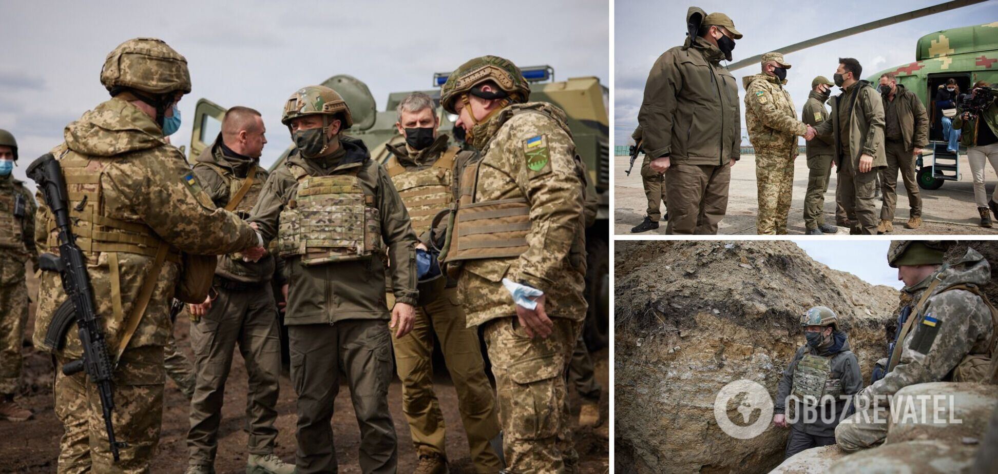 Зеленський прибув з візитом на Донбас