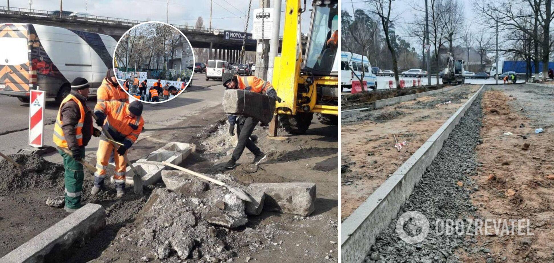 Новые велодорожки, подпорные стенки и тревожные кнопки: как происходят ремонты дорог Киева