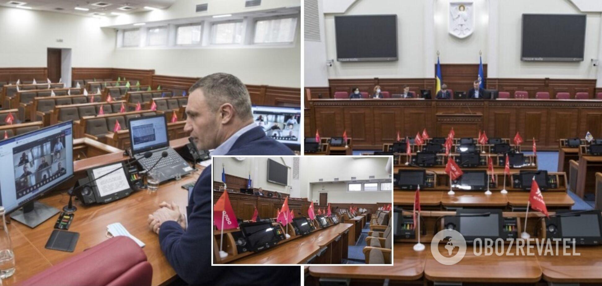 Кличко провел онлайн-заседание Киевсовета