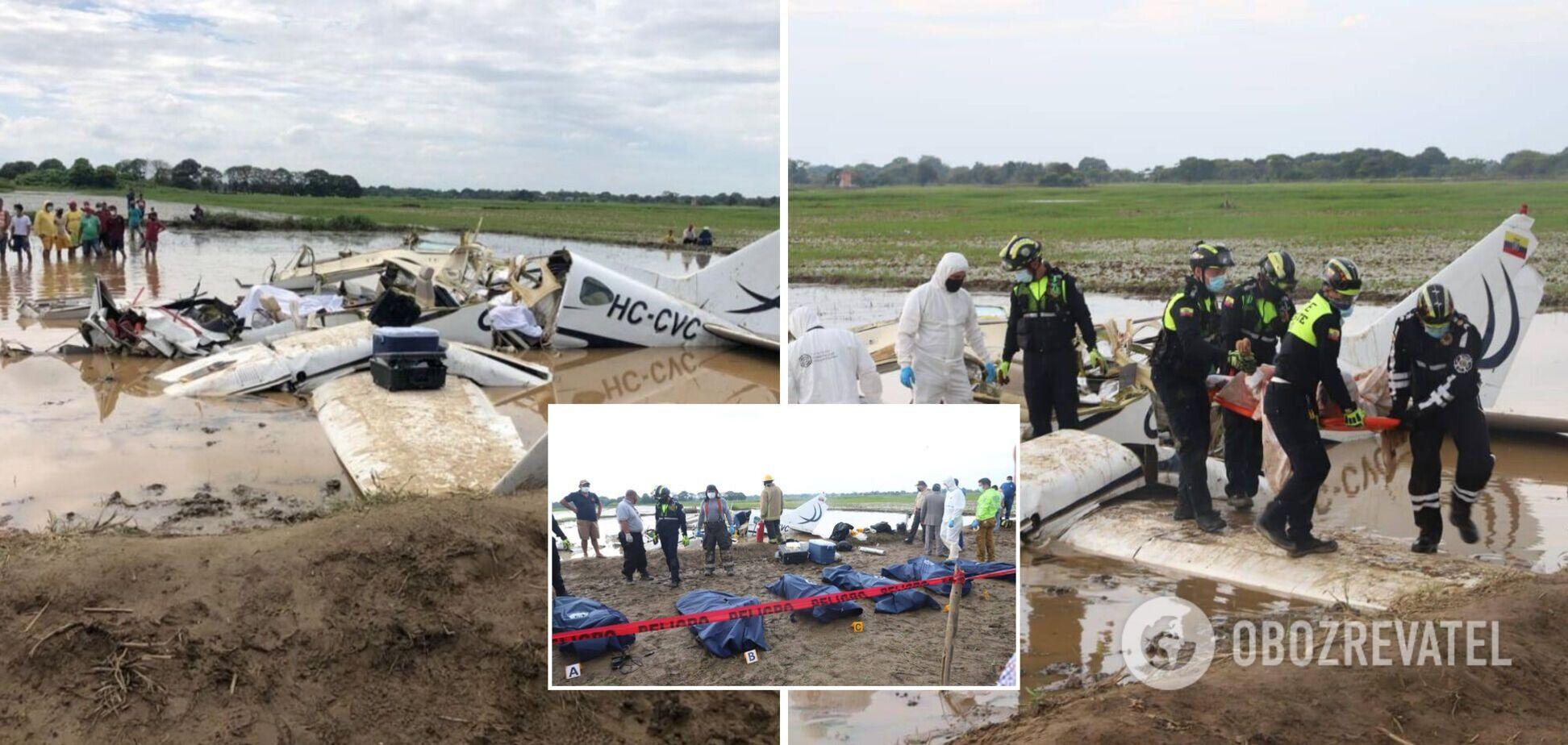 В Еквадорі розбився літак із пасажирами