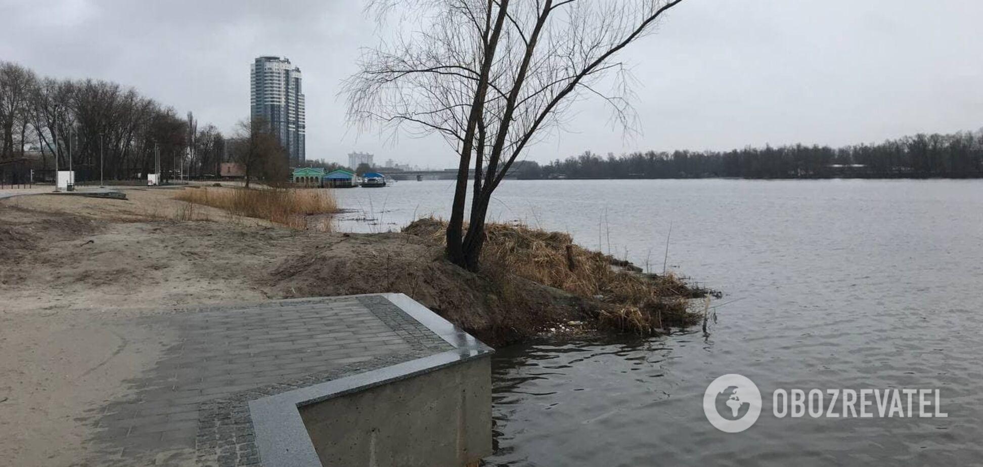 Искусственный остров и набережная: в Киеве создали новое место для отдыха
