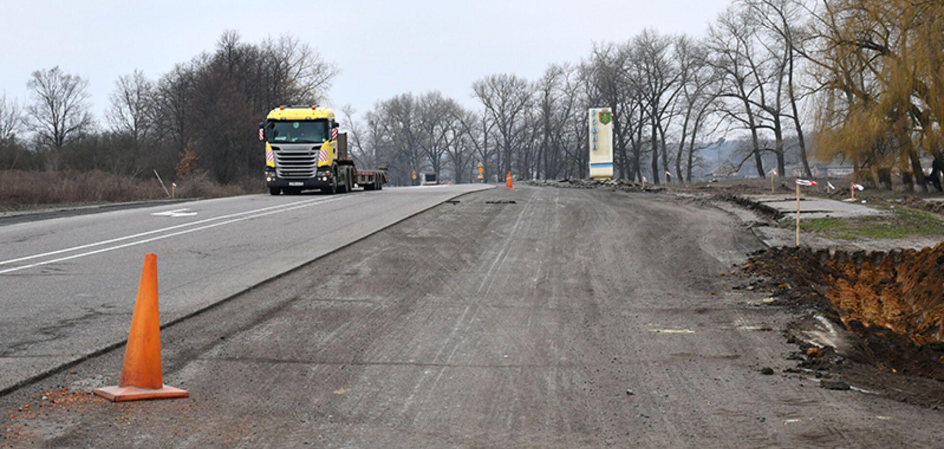 На Сумщині почали 'Велике будівництво' на головній магістралі, яка веде до Києва