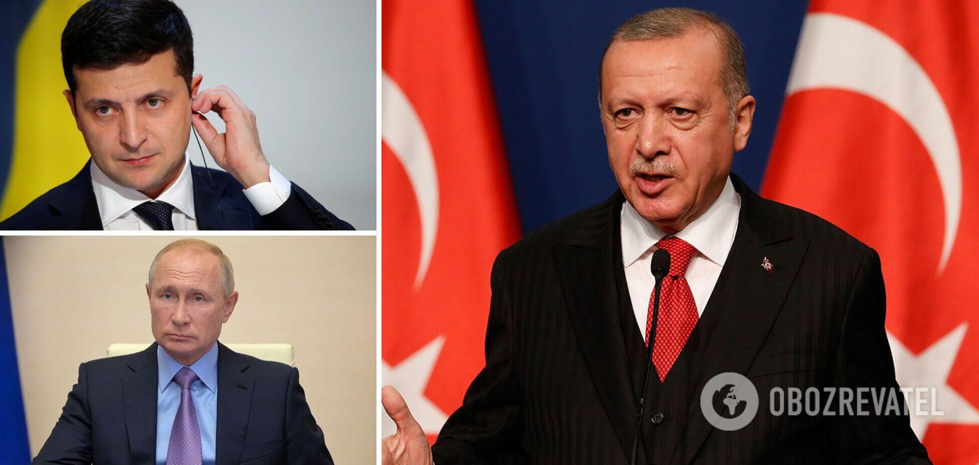 Перед зустріччю із Зеленським Ердоган обговорив із Путіним Донбас