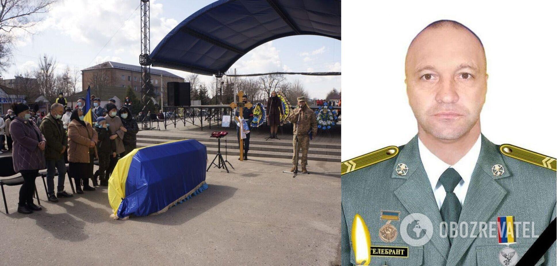 На Харьковщине простились с убитым на Донбассе воином. Фото