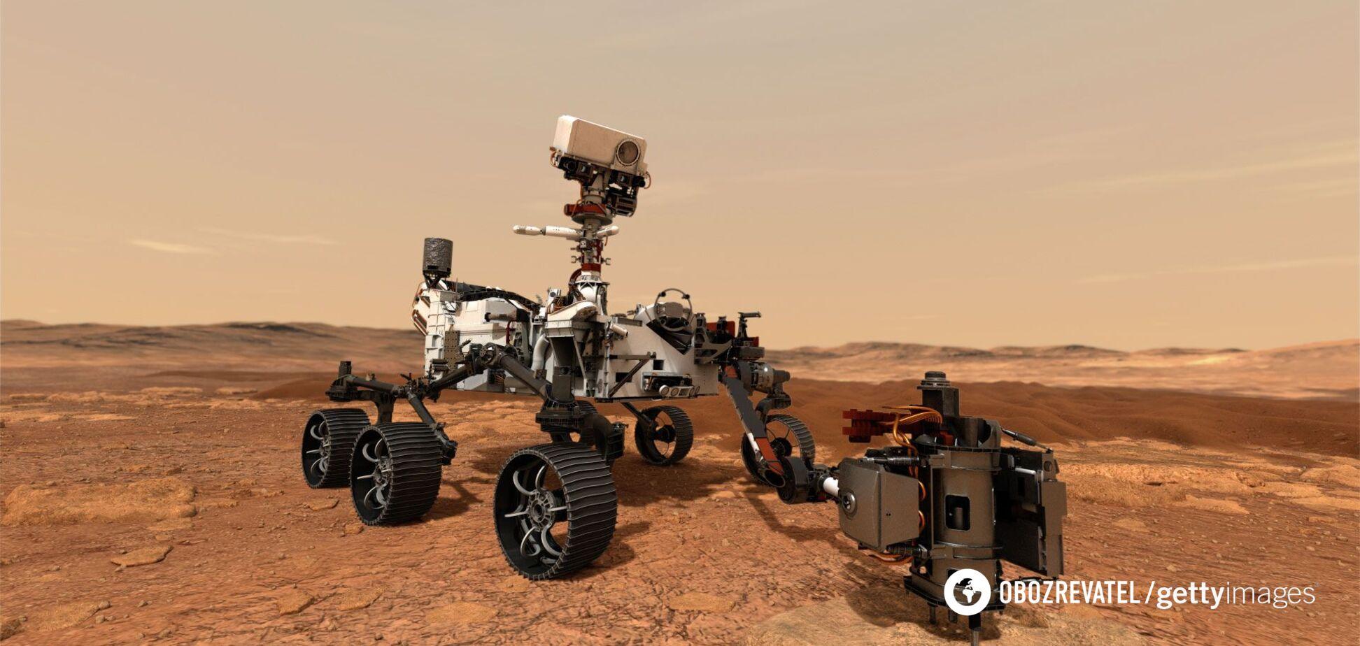 Марсоход Perseverance показал первое фото с геликоптером Ingenuity