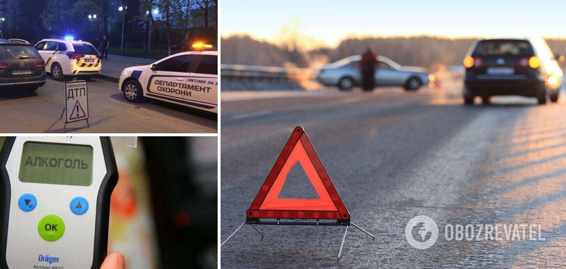 Під Києвом п'яний водій врізався в авто з родиною. Фото