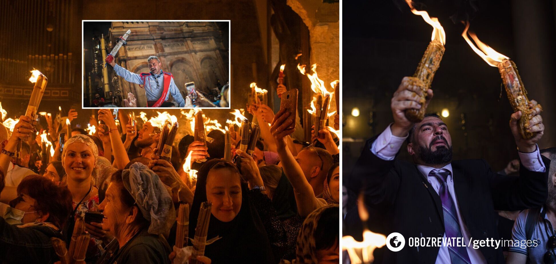 В Иерусалиме сошел Благодатный огонь. Видео