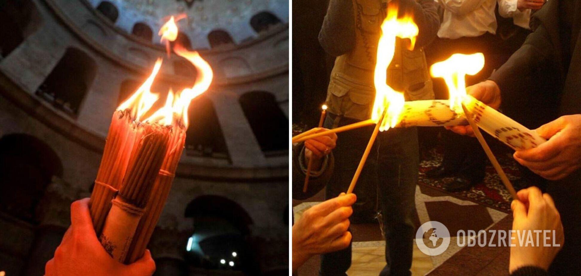 УПЦ МП привезли Благодатный огонь в Украину, ПЦУ ожидают его на Пасху