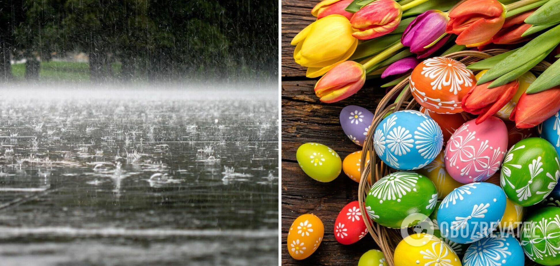 Україну на Великдень заллють дощі: синоптики уточнили прогноз погоди