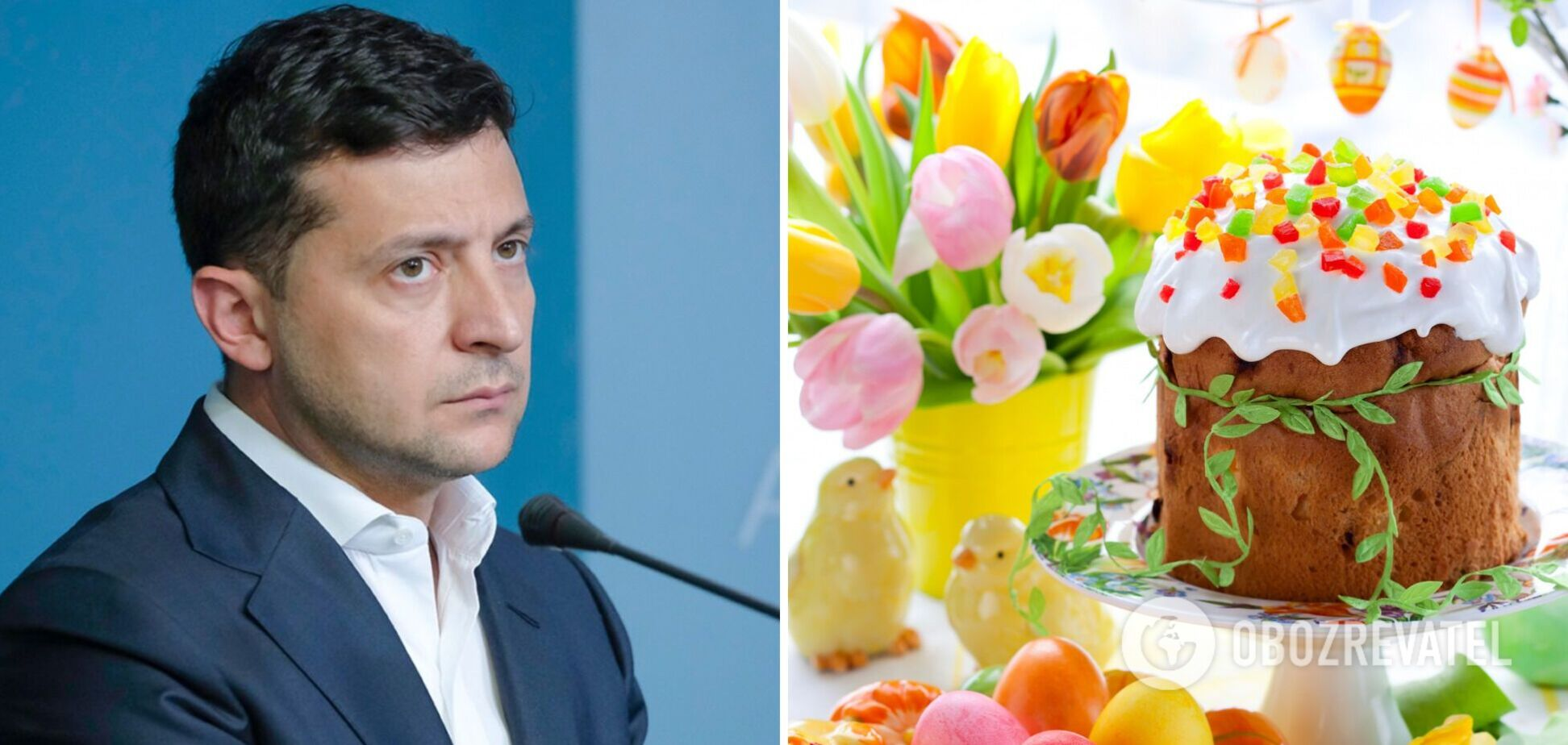 Зеленский поздравил украинцев с Пасхой и попросил отмечать дома. Видео