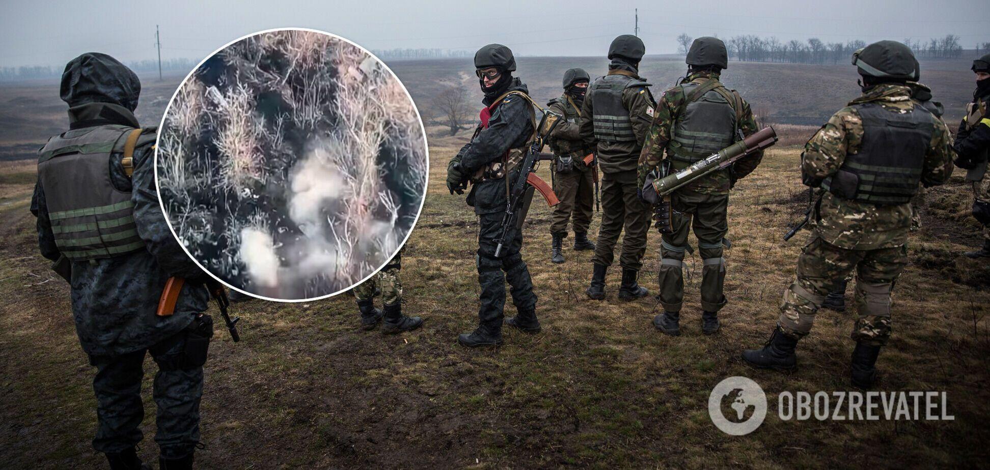 ВСУ уничтожили позицию 'Л/ДНР' с воздуха. Видео