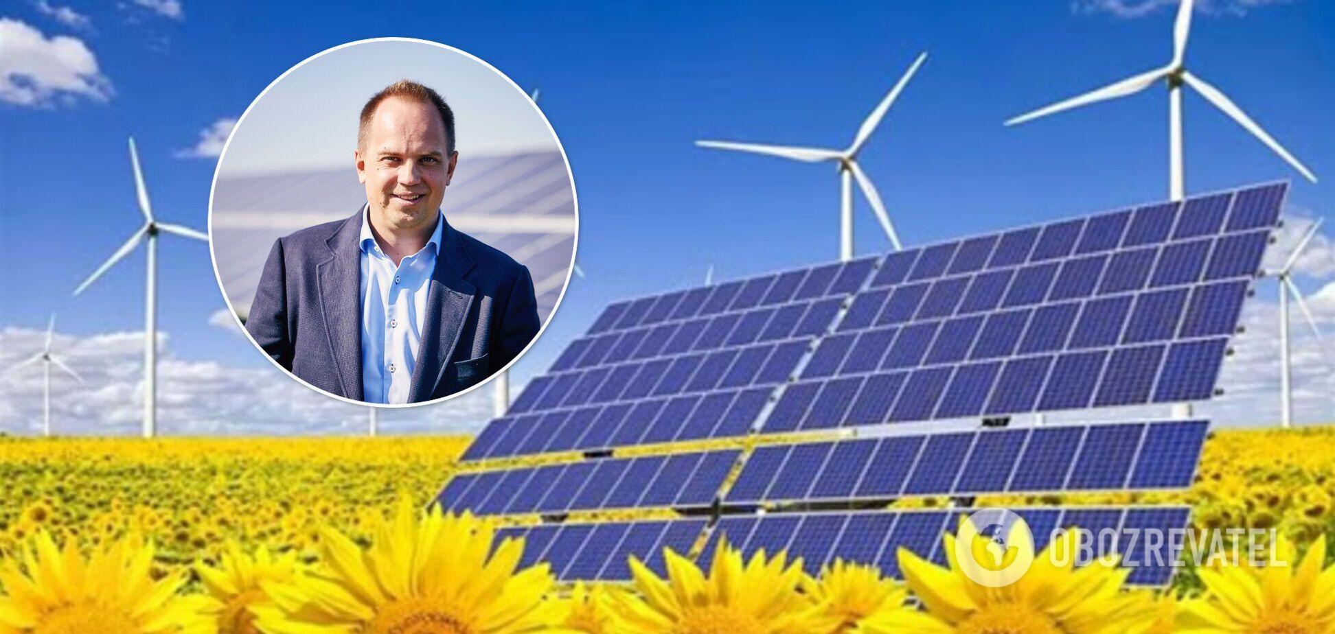 Кабмін намагається запровадити нові податки для зеленої енергетики, щоб витягнути з інвесторів більше грошей – Євтушенко