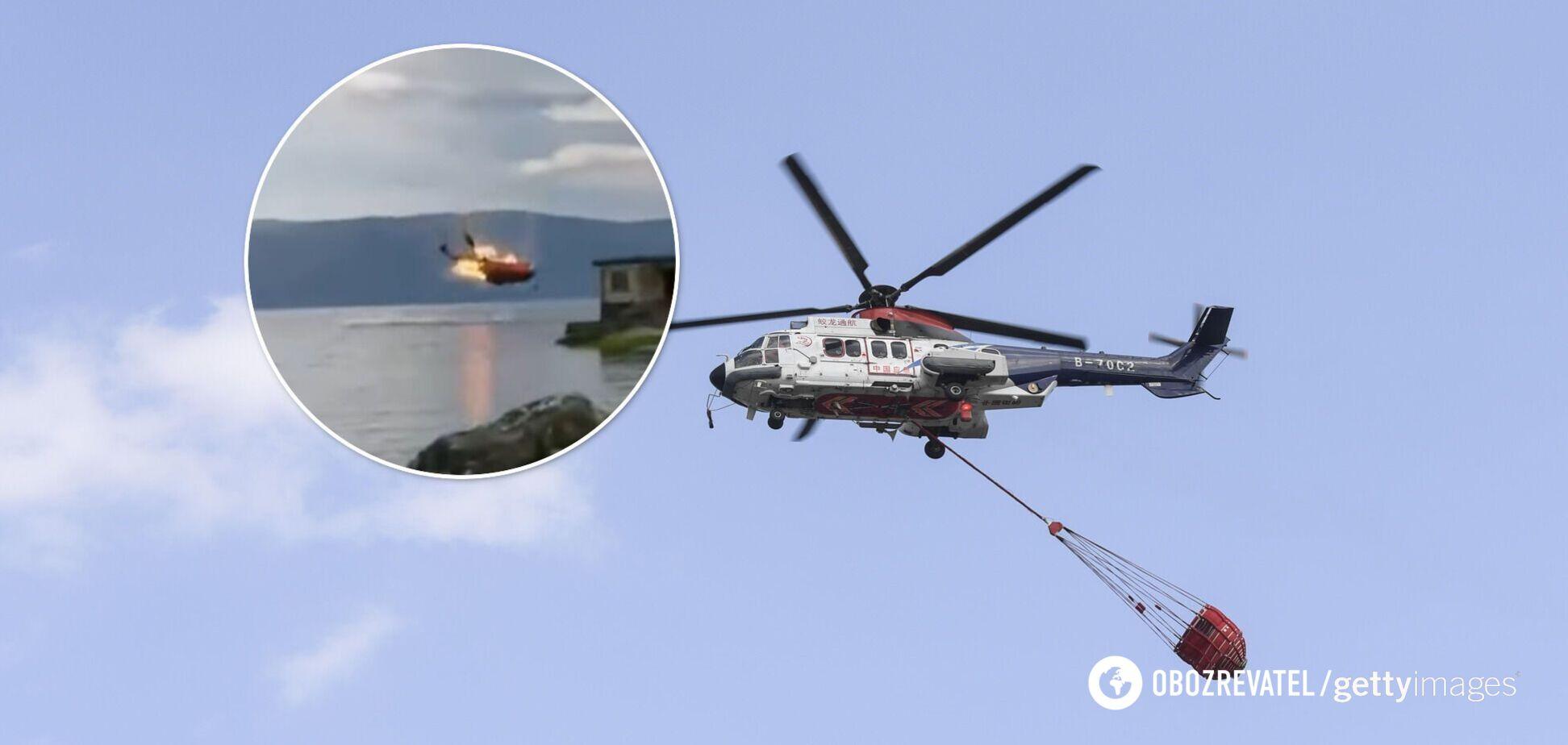 У Китаї розбився пожежний вертоліт