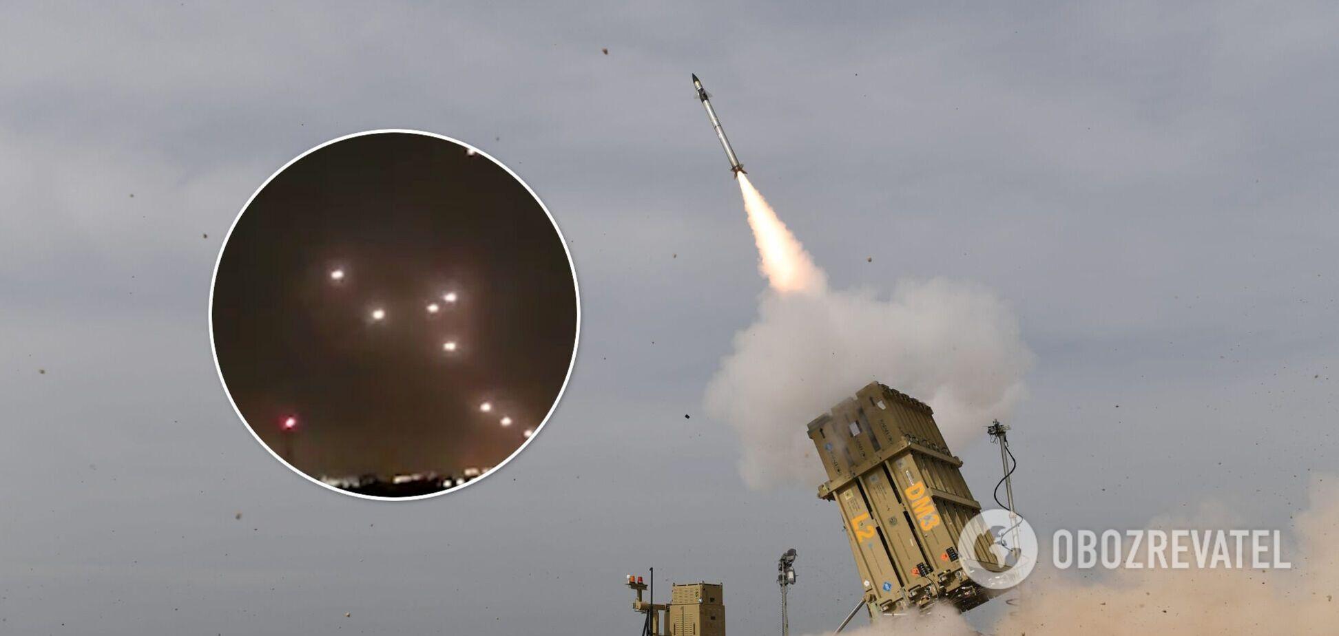 З'явилися відео перехоплення ракет ХАМАСу, випущених по Ізраїлю