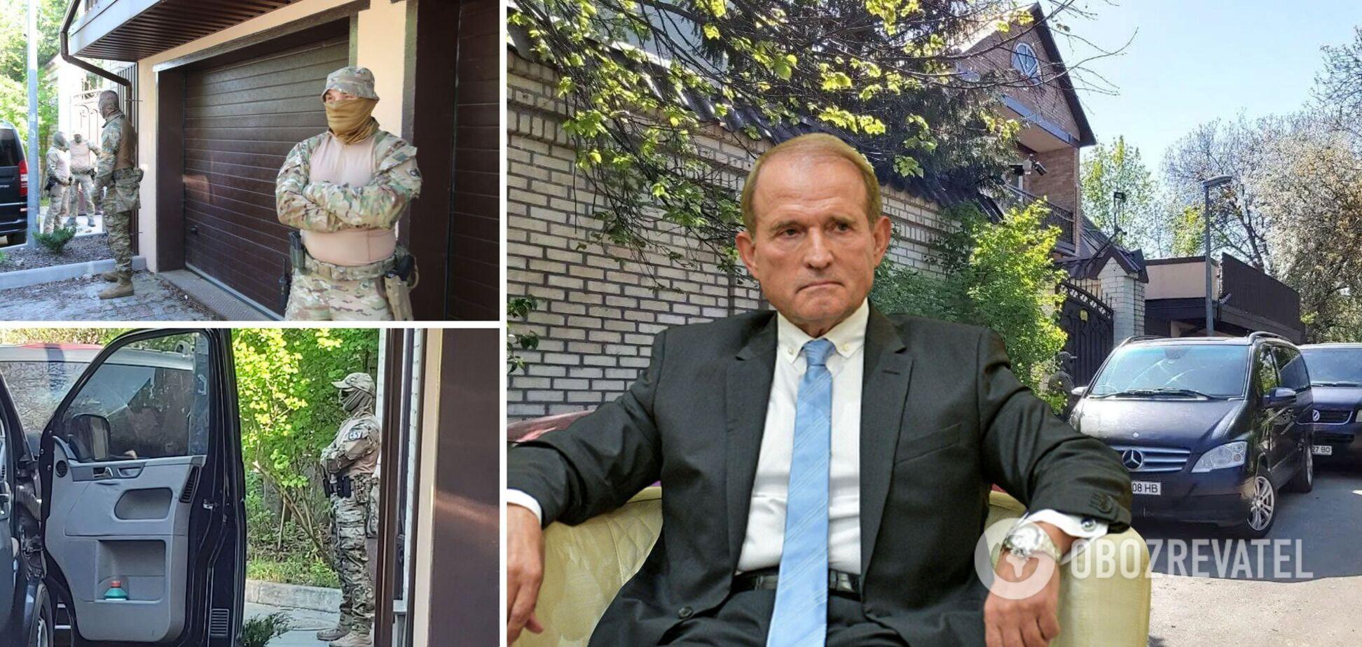 У будинок Медведчука та офіс ОПЗЖ прийшли з обшуками. Відео