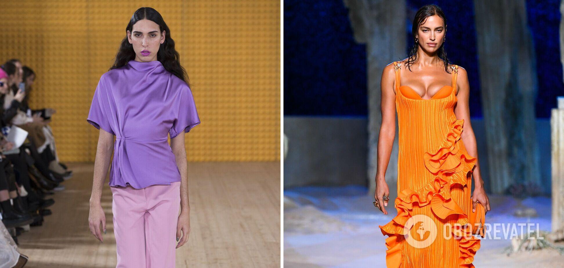 Ліловий і яскравий помаранчевий стали модними кольорами весни 2021