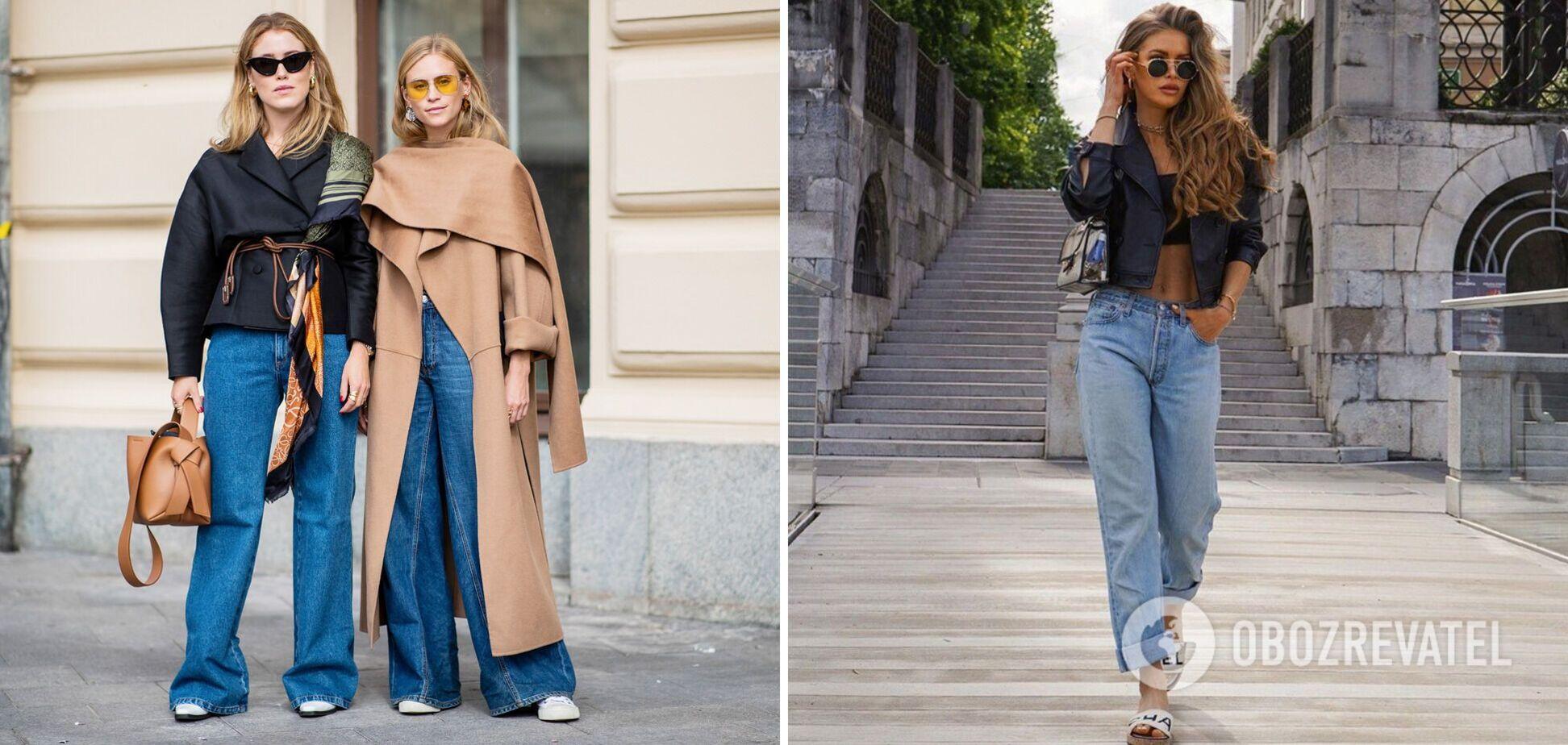 Широкі джинси знову стали трендовими у 2021 році. Фото
