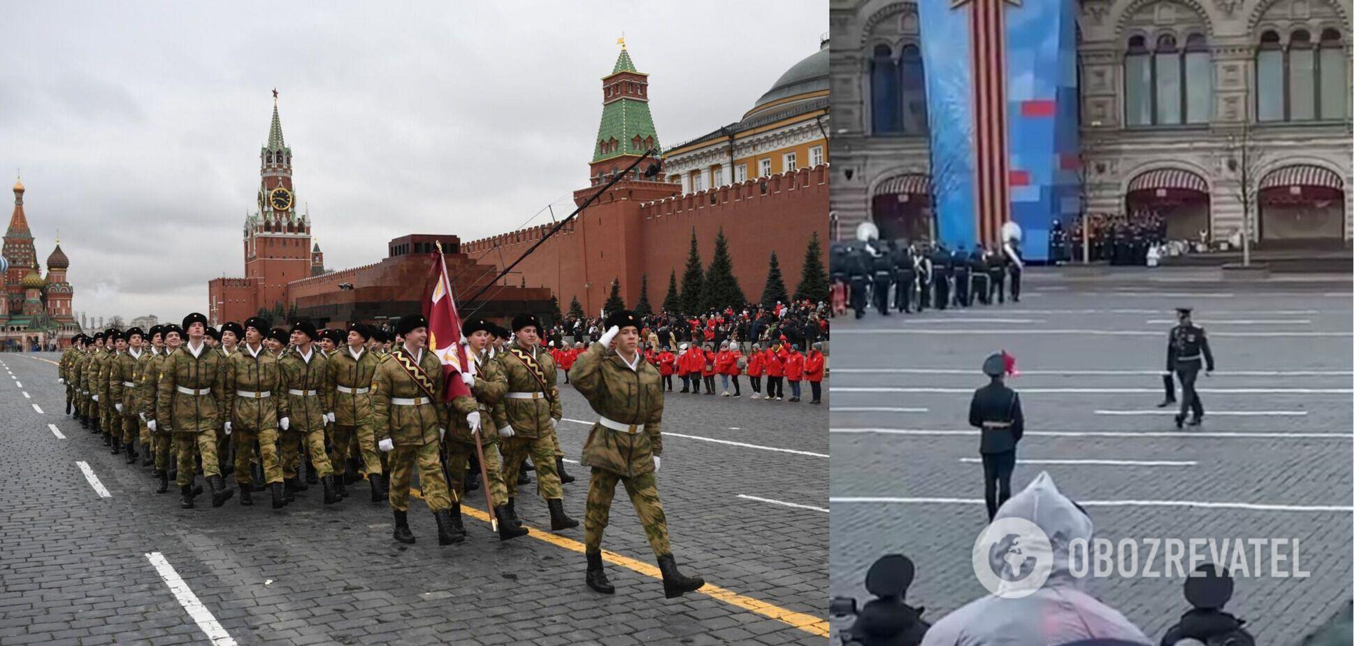 У Росії військовий загубив чобіт під час параду на Красній площі. Відео