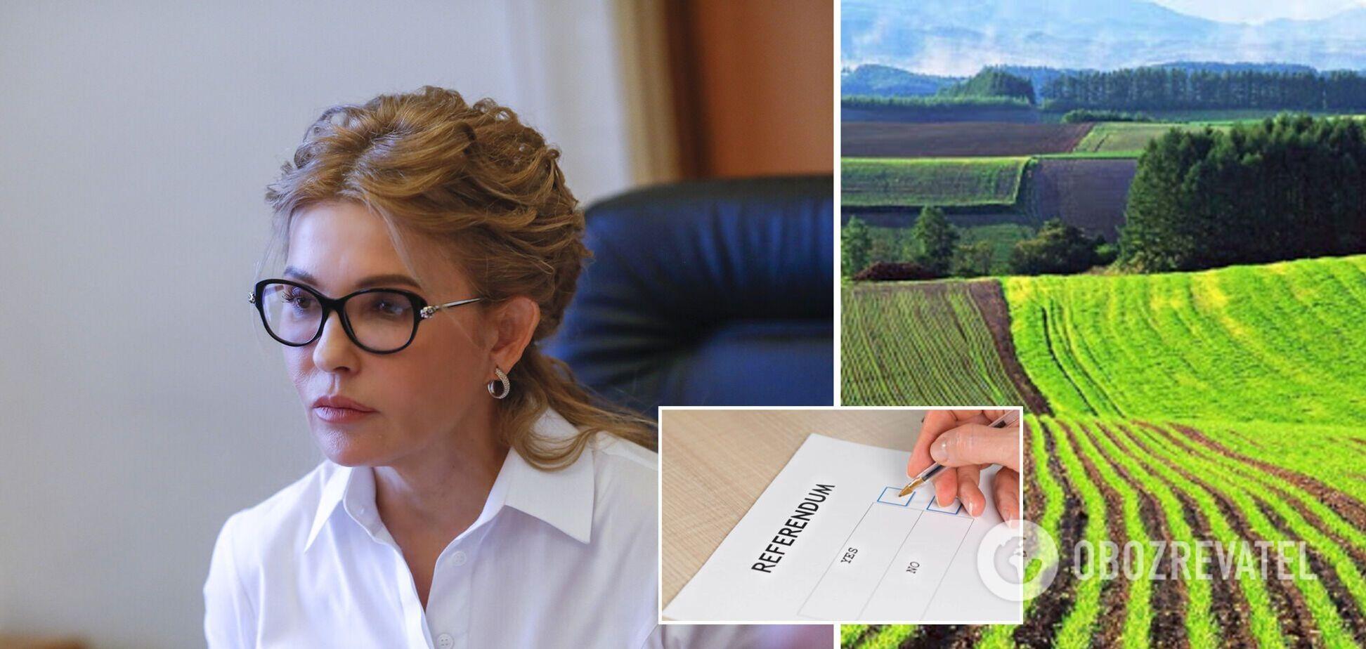 Команда 'Батьківщини' відкрила гарячу лінію щодо референдуму про землю