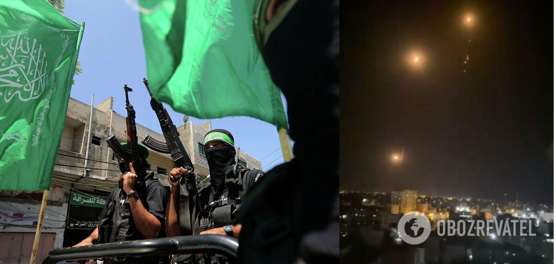 ХАМАС выпустил более сотни ракет по Тель-Авиву. Видео