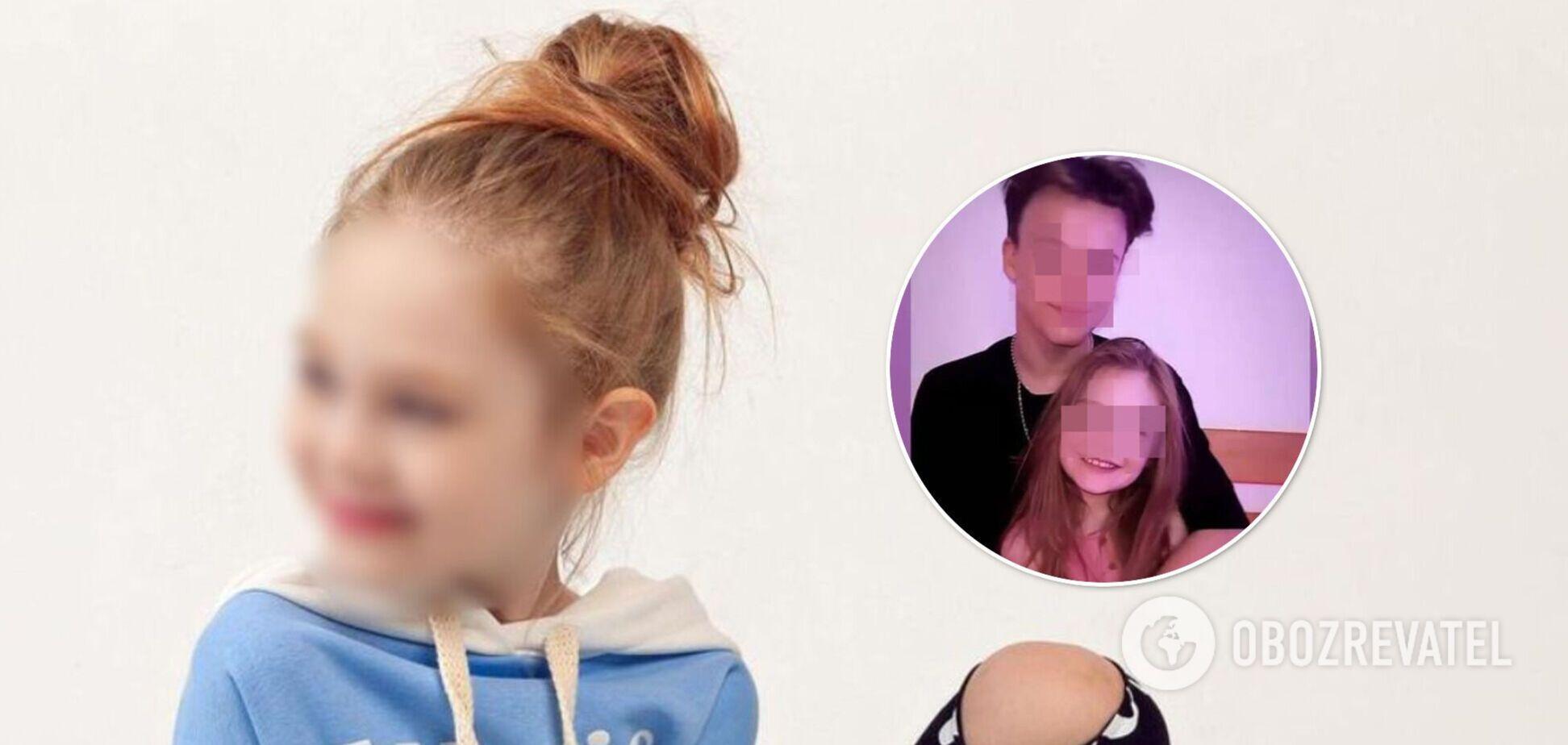 8-летняя Маханец впервые встретилась после скандала с 13-летним парнем